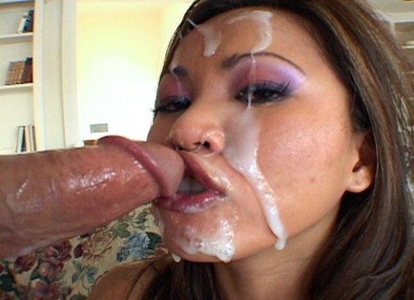 Мужики заливают спермой лица подружек после секса - секс порно фото
